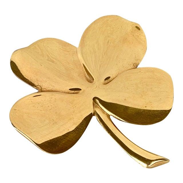 Vintage Gold Four Leaf Clover For Sale