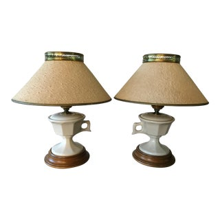 Vintage Tea Cup Lamps - Set of 2 For Sale