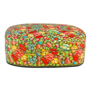 Garden of Flowers Kashmiri Box For Sale