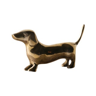 Brass Dachshund Weiner Dog Figurine