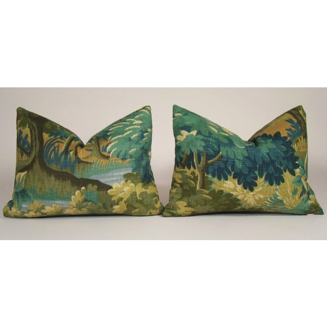 Linen Verdure Print Linen Lumbar Pillow Cover For Sale - Image 7 of 8