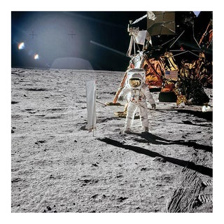 Buzz Aldrin. Apollo 11. 'Solar Wind Composition Experiment' Exclusive Art Print by TASCHEN Books, Autographed by Buzz Aldrin For Sale