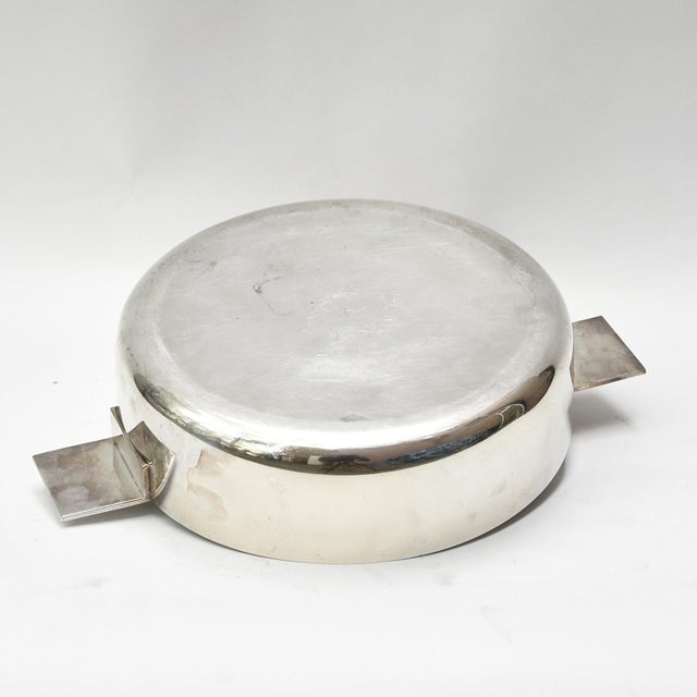 A bowl and lid silver plated by Lino Sabattini ca.1960s Conditions : Perfect