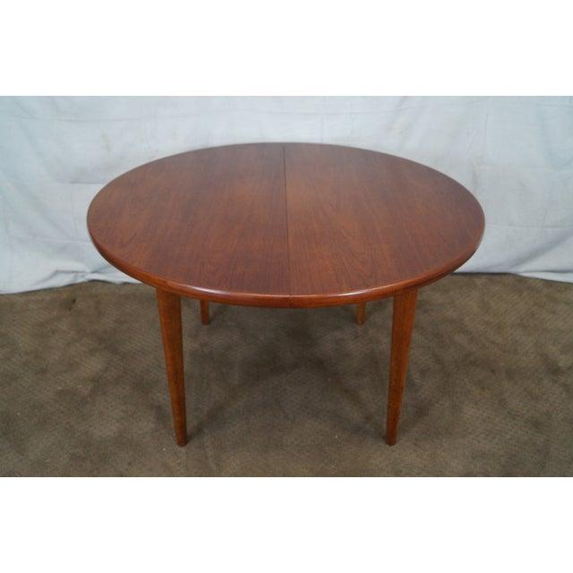 Vintage Round Teak Danish Dining Table - Image 2 of 10