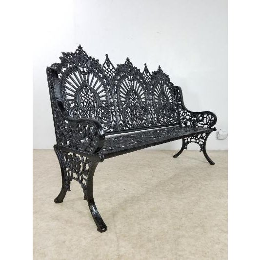 Antique American Cast Iron Park Bench For Sale - Image 12 of 13