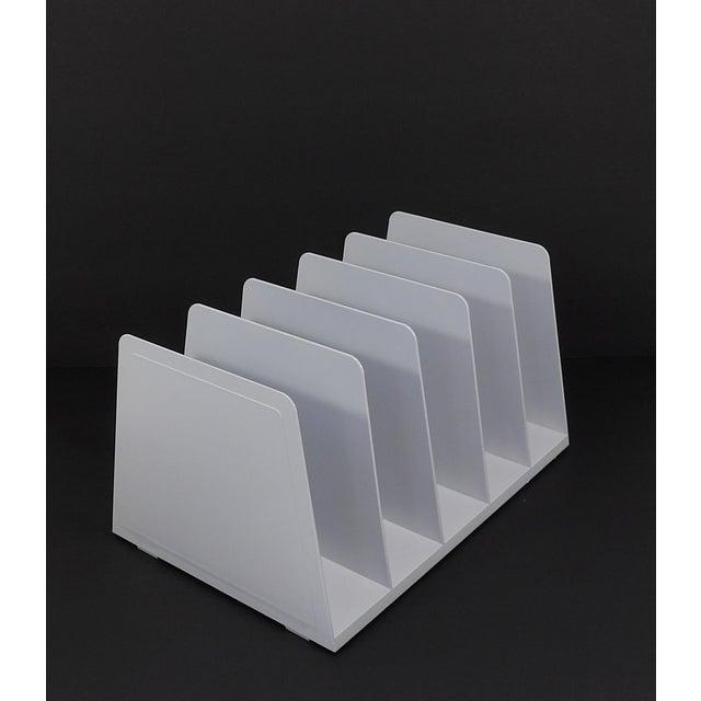 White 20th Century Modern White Plastic Office Desk File Sorter For Sale - Image 8 of 8