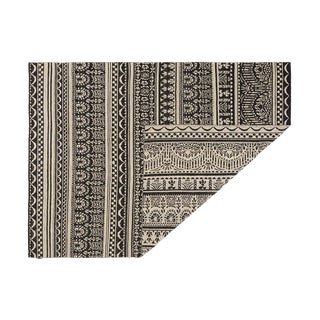 Modern Kilim Freedom Etnico 12 Black/Off White Rug- 10′ × 13′2″ For Sale