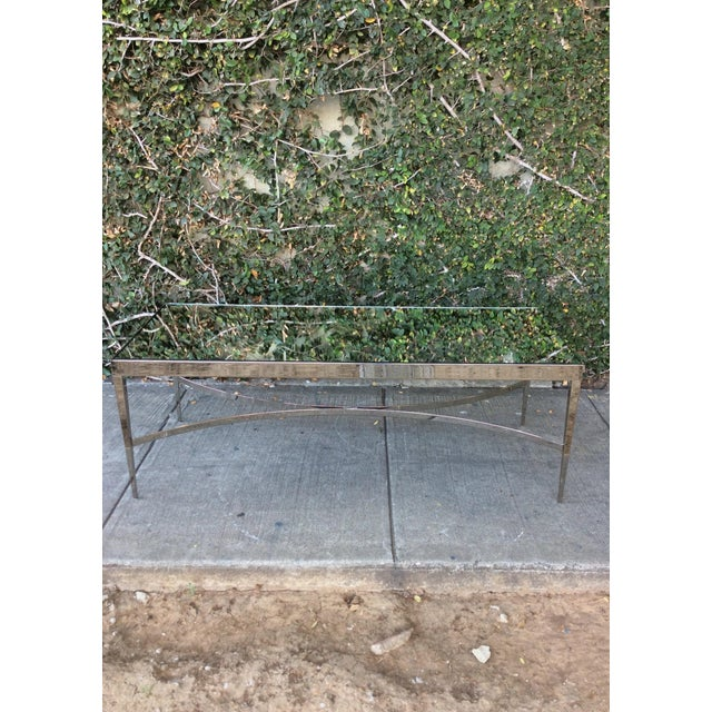 Contemporary Barbara Barry Mirrored Chrome Coffee Table For Sale - Image 3 of 10