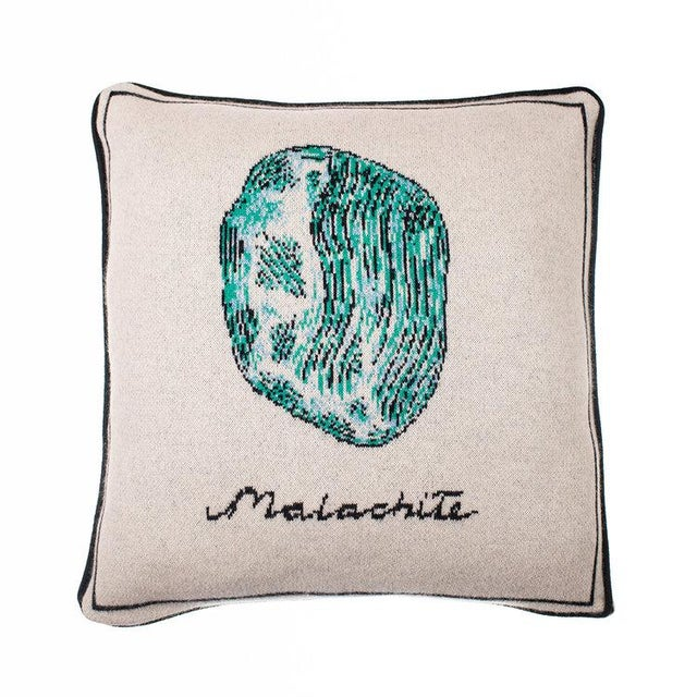 Contemporary Fee Greening - Malachite Cashmere Pillow For Sale - Image 3 of 3