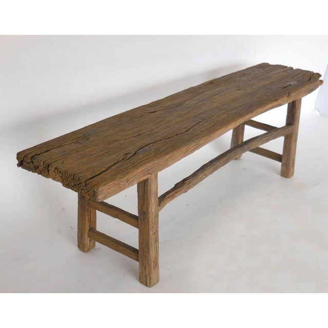 19th Century Elm Bench For Sale In Los Angeles - Image 6 of 6