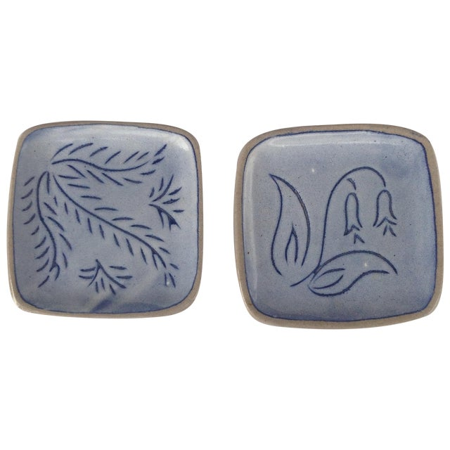 Blue Glidden Pottery Pin Trays, 1961 - Image 1 of 7