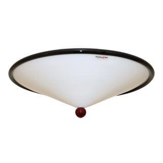 Gianni Rigo for Murano Due Black and White Murano Glass Ceiling Lamp For Sale