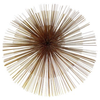 C. Jere Large Pinwheel/Pom Pom Three-Tiered Wall Sculpture Signed and Dated 1982 For Sale