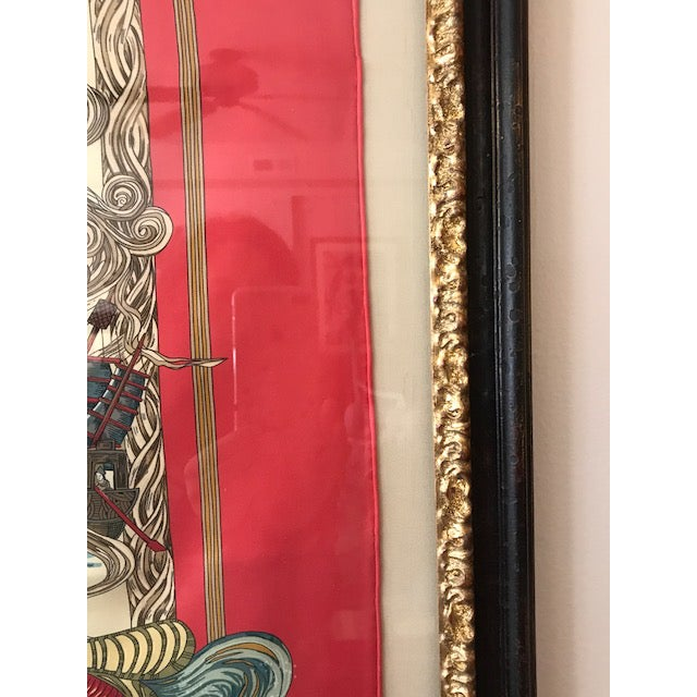 Hermes French Silk Scarf Framed Art For Sale In Kansas City - Image 6 of 7