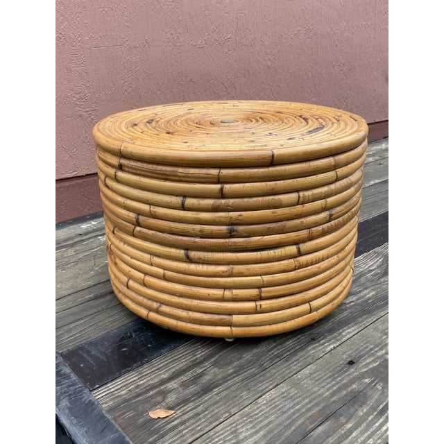 Awesome pretzel rattan table. Perfect as a drinks table or a side table. Sturdy enough to hold weight, but light enough to...