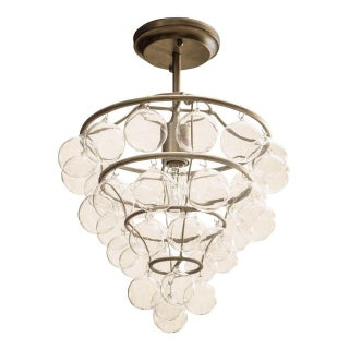 Astral Pendant Light in Silver Leaf For Sale