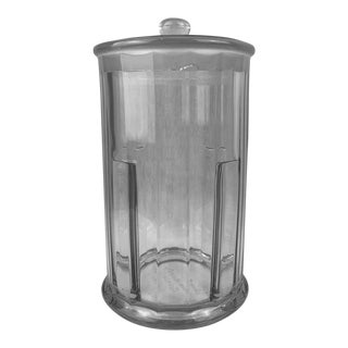 Heisey Glass Apothecary Jar With Cover by John Hood Co., Boston For Sale