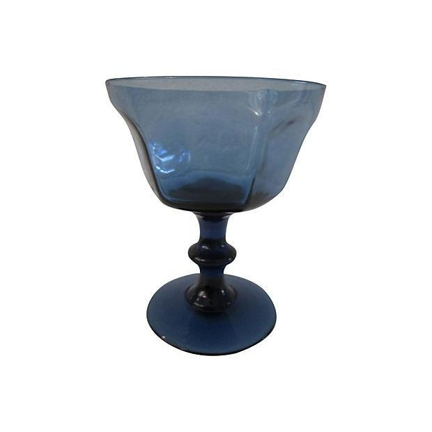 Lenox Vintage Dark Blue Crystal Glasses - Set of 4 - Image 3 of 3