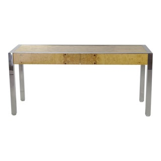 Pace Collection Burl Wood Console Table For Sale