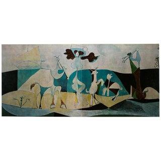 """1971 Pablo Picasso, """"Joy of Life"""" Large Original Parisian Photogravure For Sale"""