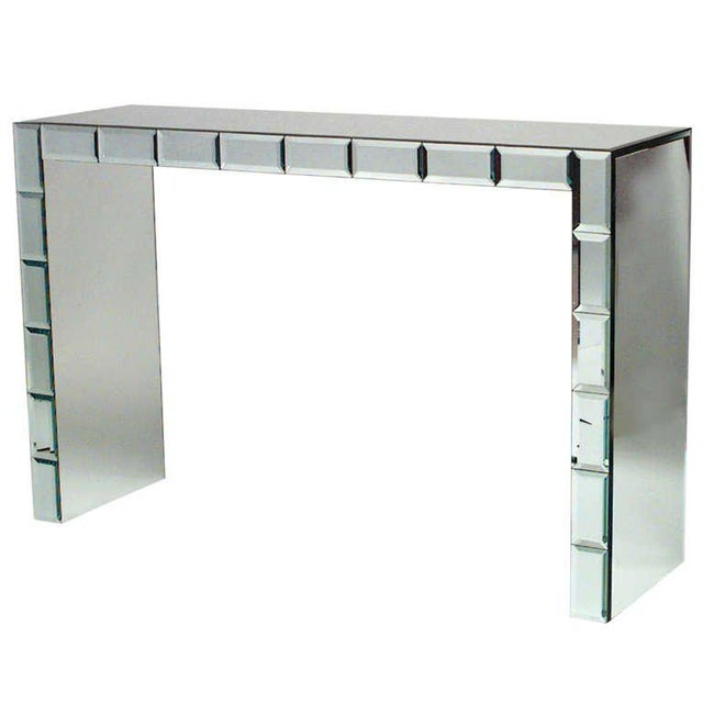 French French Art Modern Mirrored Console Table For Sale - Image 3 of 4