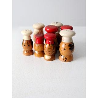 Mid-Century Wooden Salt & Pepper Shakers - 8 Piece Preview