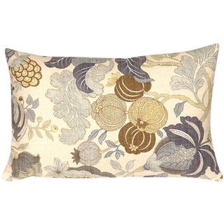 Harvest Floral Blue 16x24 Pillow For Sale