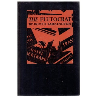 "1927 ""First Edition, the Plutocrat"" Collectible Book For Sale"