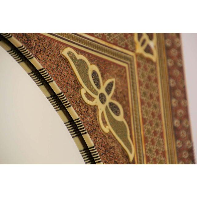 Brown Middle Eastern Moorish-Style Sadeli Mosaic Mirror For Sale - Image 8 of 13