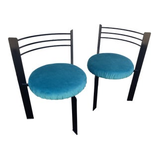 Vintage Three Legged Chairs - A Pair