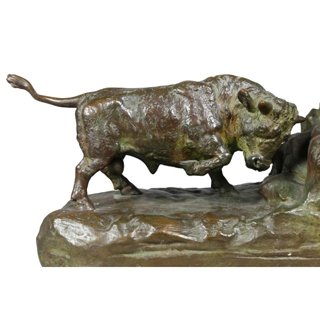 Cabin Bronze Animalier Bookends Retailed by Theodore B Starr Inc. - a Pair For Sale - Image 3 of 12