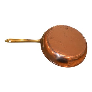 Vintage Copper Saute Pan For Sale