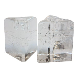 Timo Sarpaneva for Iittala 'Arkipelago' Candle Holders - A Pair For Sale