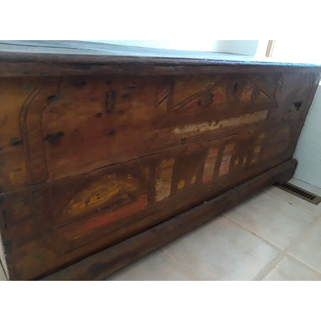 1960s 1980s Javanese Teak Wood Chest For Sale - Image 5 of 13