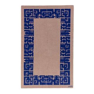 Maison Leleu - Azteque Blue Cashmere Blanket, Queen For Sale