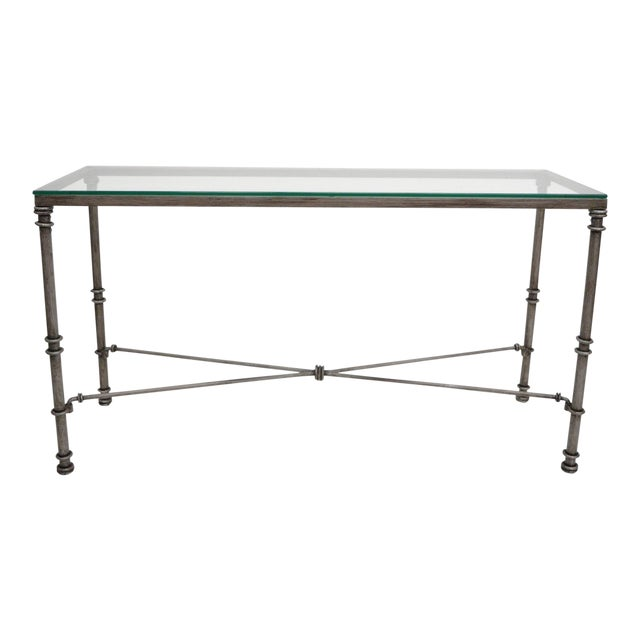 Pier 1 medici collection pewter iron console hall sofa table with pier 1 medici collection pewter iron console hall sofa table with glass top watchthetrailerfo
