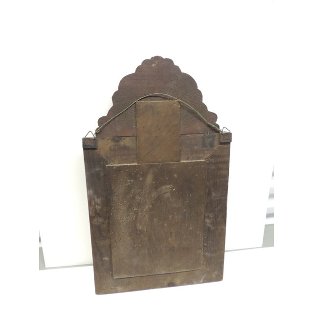 Antique Repose Brass Vanity Reliquary with Mirrored Door and Coat Brushes For Sale In Miami - Image 6 of 8