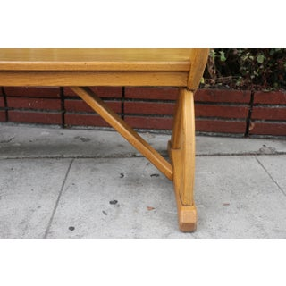 1970s Vintage Solid Oak Long Bench Preview