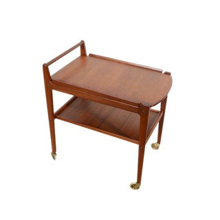 Erik Gustafssons Danish Modern Teak Cocktail Cart For Sale