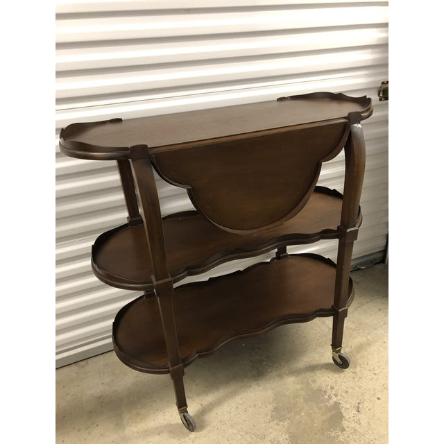 20th Century Traditional Three Tier Shelf or Bar For Sale - Image 11 of 11