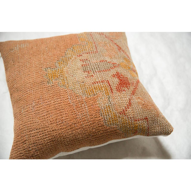 2010s Vintage Turkish Rug Fragment Throw Pillow For Sale - Image 5 of 6