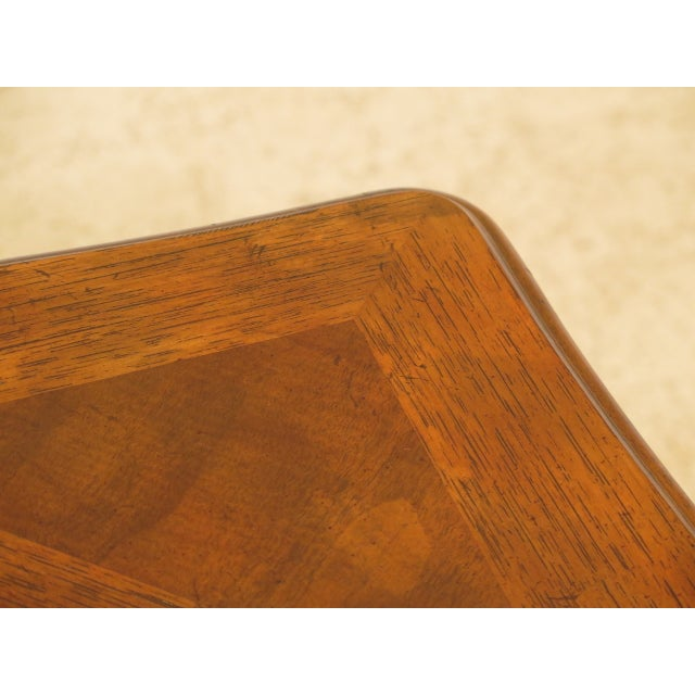 French Provincial Drexel - Heritage French Style Walnut Occasional Table For Sale - Image 3 of 8