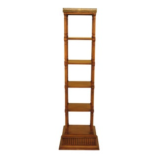 Regency Style 6 Tier Cherry Bookshelf For Sale