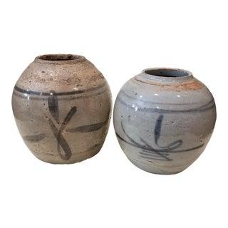 Two Asian Ceramic Vases For Sale