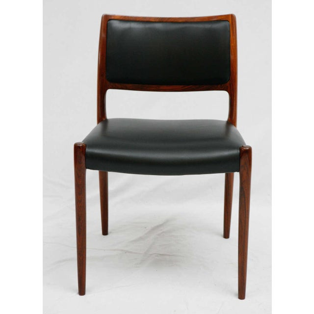 Contemporary Set Of 6 Rosewood Niels Moller Dining Chairs For Sale - Image 3 of 9
