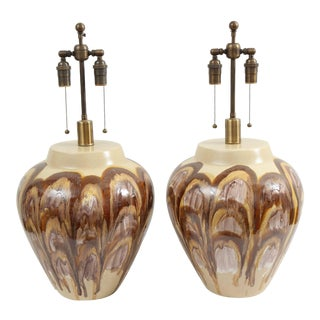 1960s Ceramic Lamps - a Pair For Sale