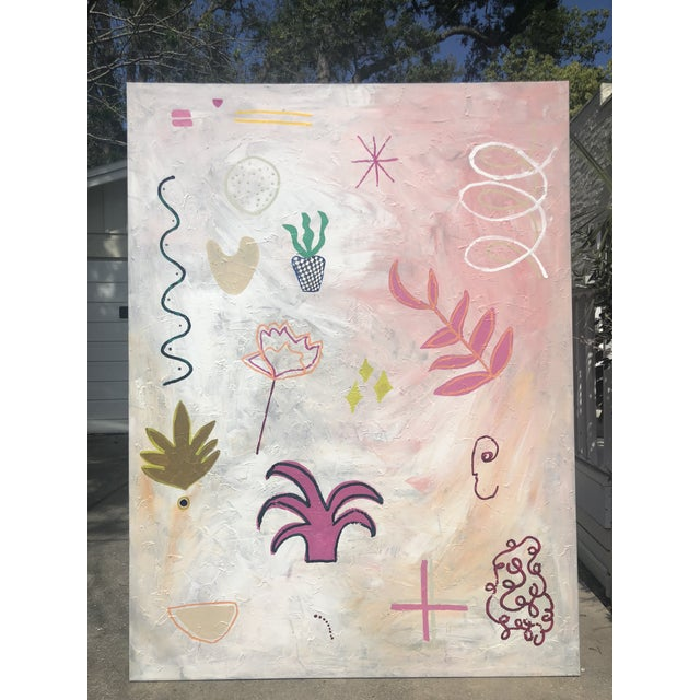 Abstract Oversized Original Abstract on Canvas by Virginia Chamlee For Sale - Image 3 of 9