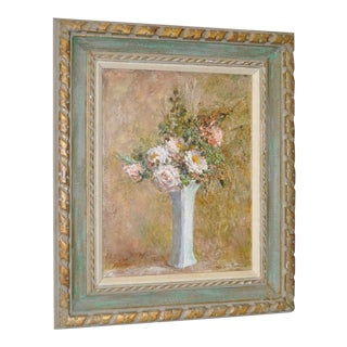 Troy Ruddick Vintage Floral Still Life Painting, C.1965 For Sale
