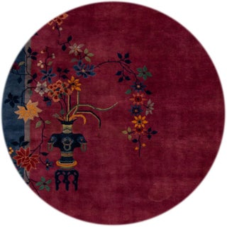 Early 20th Century Antique Art Deco Chinese Wool Rug Preview