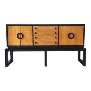 Ebonised and Wooden Cabinet by Americraft 1970s For Sale
